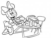 Lanche com a Minnie