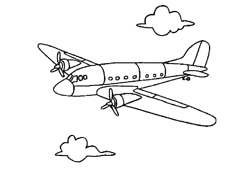 key coloring pages preschool airplanes - photo#1