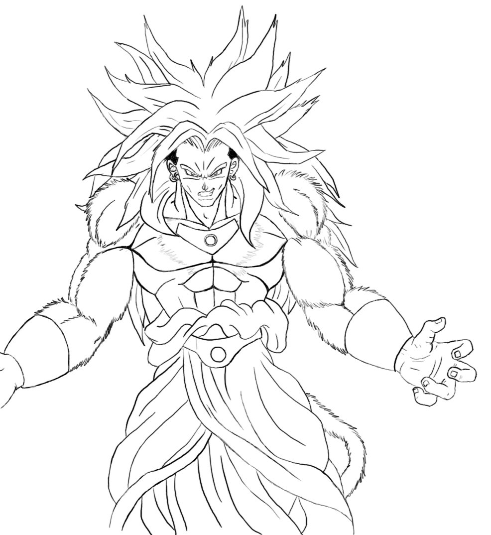 Broly hd for Dragon ball z broly coloring pages