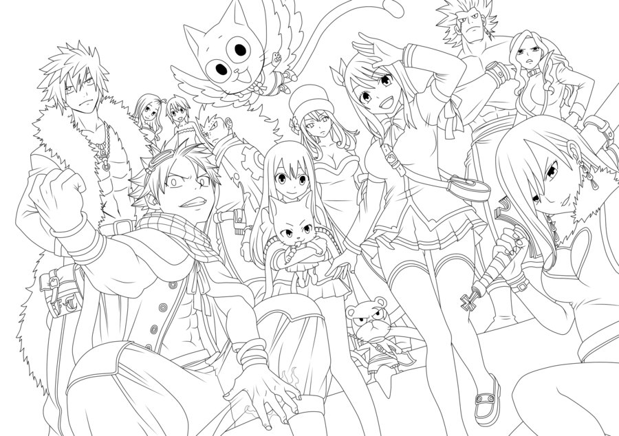 Fairy Tail Coloring Pages Anime For Kids