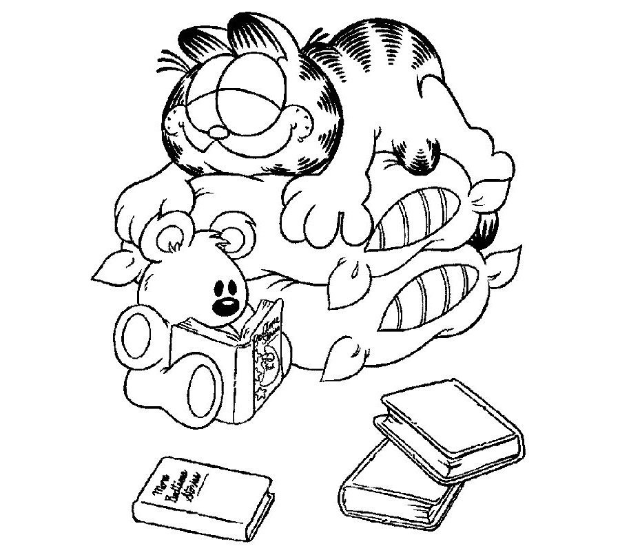 Desenhos para colorir do garfield for Garfield coloring page