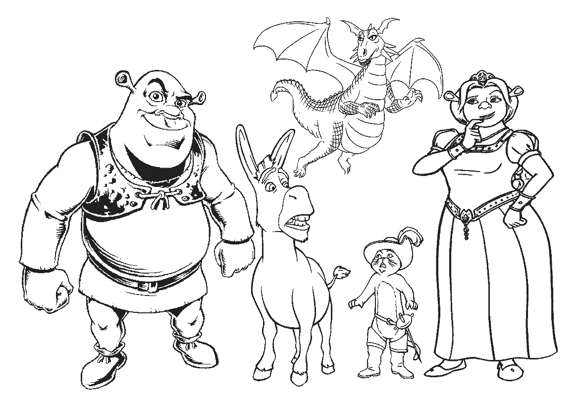 Desenhos para colorir do shrek for Coloring pages shrek