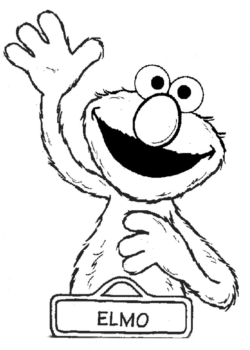 Elmo Water Colouring Pages
