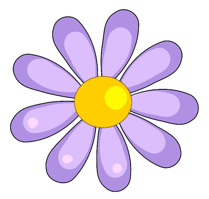 flower clip art color - photo #8