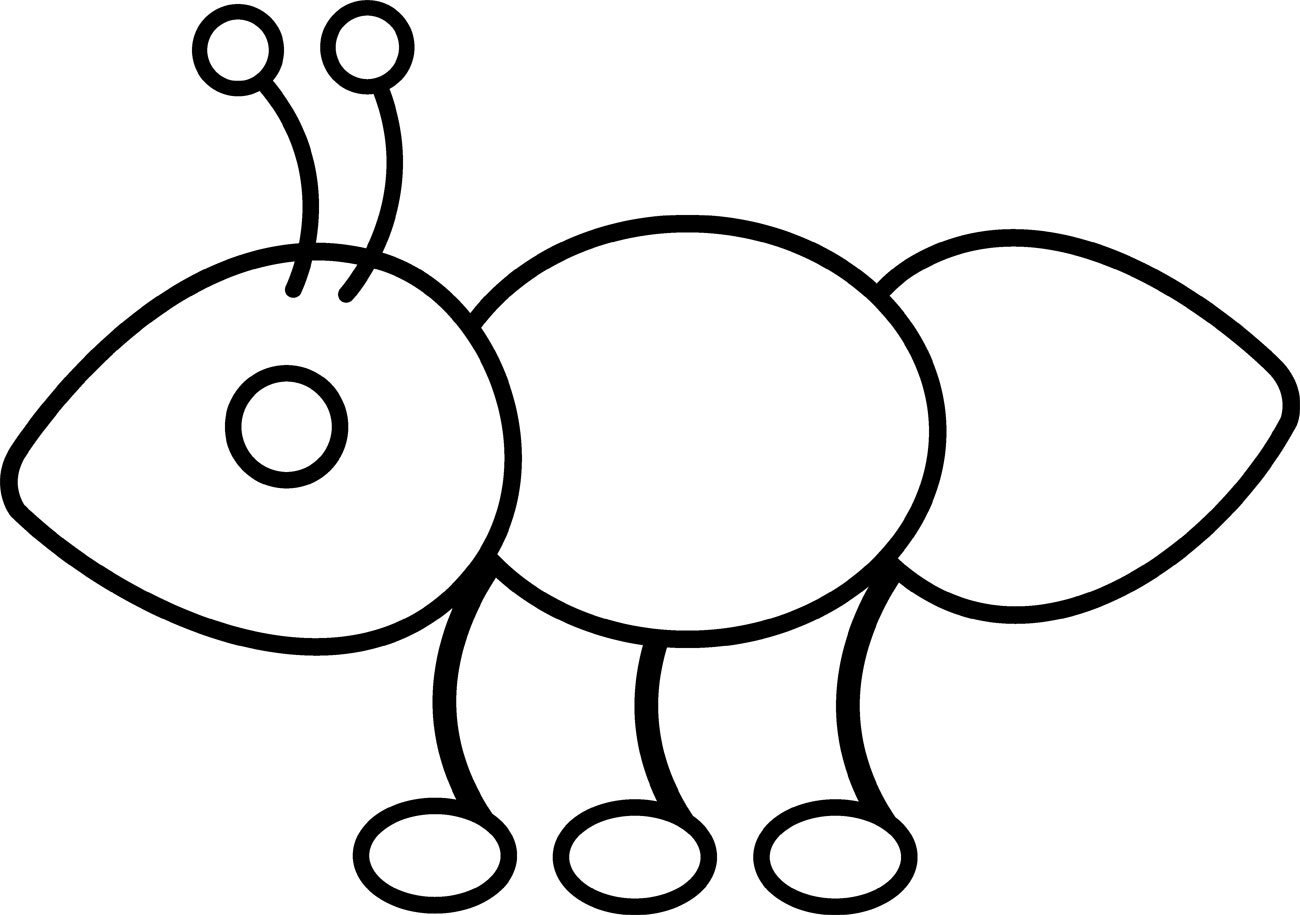free ant clipart black and white - photo #36