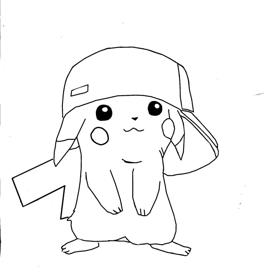 zombie pikachu coloring pages - photo#24