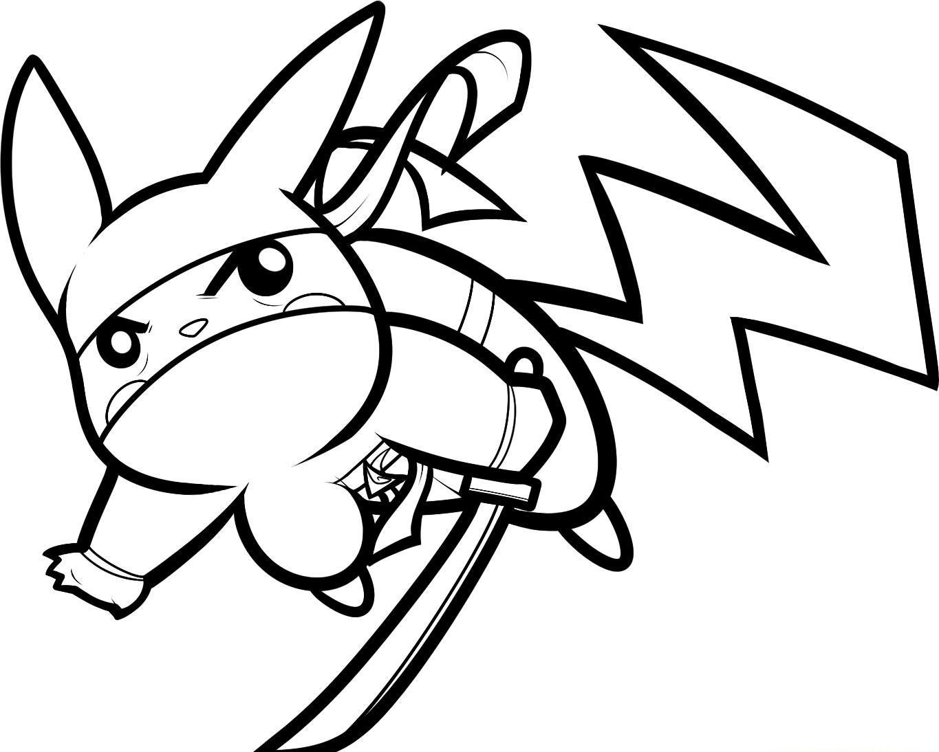 free and pikachu coloring pages