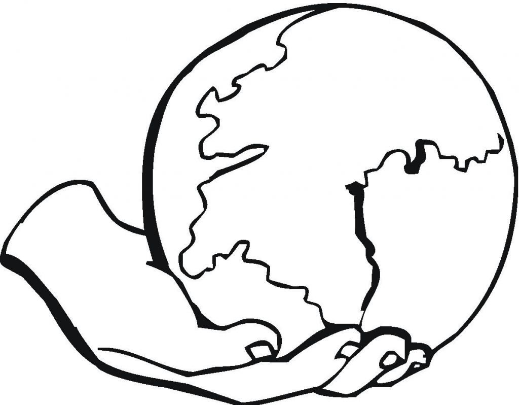 coloring pages world globe - photo#32
