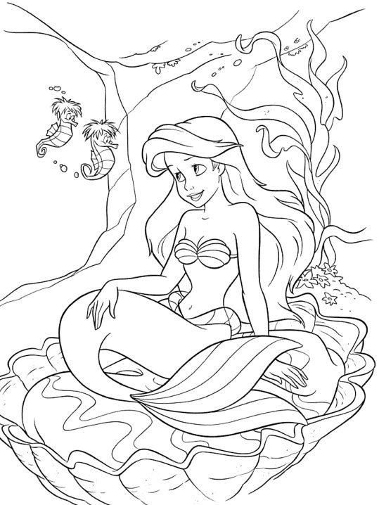 Little Mermaid And Prince Eric Coloring Pages A princesa Ariel HD | ...